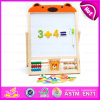 Educational Math Wooden Counting Frame Learning Toy, Early Learning Wooden Study Blackboard Toys for Christmas W12b084A