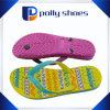 Gold Color PVC Trendy Flip Flop for Lady
