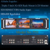 Triple 5 Inch 2ru Rack Mount LCD Monitor