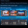 Triple 5 Inch 2ru Rack Mount LCD Monitor