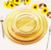 Gold Dinner Glass Charge Plate