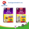 New Product Custom Pattern Printed Plastic Ziplock Flat Bottom Pet Food Bag