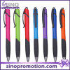 Shining Plastic Click Ball Pen with Rubber Mat
