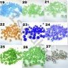 Mixed Colors 46mm 50PCS Rondelle Austria Faceted Crystal Jewelry Accessories