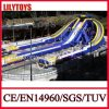 Giant Blue Color PVC Adult Beach Inflatable Triple Hippo Water Slide for Adults (V-HP-045)
