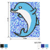 Blue Border Dophin Fish Drean Pool Mosaic
