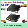 HDD Mobile DVR with 4/8 Channel 1080P Video Input H. 264 WiFi 3G GPS