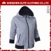 Women′s Latest Pattern Zip up Plain Gym Hoodies Grey (ELTWGHI-15)
