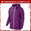Cheap Fashion Women′s Zip up Gym Hoodies Purple (ELTWGHI-7)