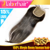 """20"""" Brazilian Virgin Hair Hand Tied Free Parted Lace Closure Lbh 266"""