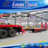 Heavy Duty Low Bed Trailer 80 Ton and Widely Used 4 Axle Extendable Low Bed Trailer