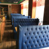 Blue Leather Button Tufted Design Restaurant Booth (FOH-RB1)