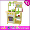2014 New Wooden Play Kitchen, Popular Kids Toy Play Kitchen, Hot Sale Children Set Kids Play Pop Kitchen Factory W10c045y