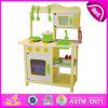 2014 New Wooden Play Kitchen, Popular Kids Toy Play Kitchen, Hot Sale Children Set Kids Play Pop Kitchen Factory W10c045y