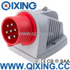 Qixing Industrial Plug Socket 7-Pole Panel Mounted Inlet