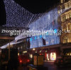 White Star Shape LED Net Lights for Building Decoration