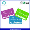Plastic Gift Card with Different Value