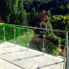 Framed SUS Post Handrail Balcony Deck Tempered Glass Railing Balustrade