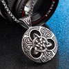 Aegishjalmur Pendant Viking Symbol Stainless Steel Ireland Celtic Knot Necklace