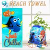 Free Sample Square Velour Beach Towel Printed