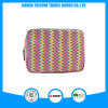 Hot Sale Square Stripe PU Material Cosmetic Bag