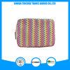 Hot Sale Square Stripe PU Material Cosmetic Bag