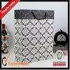 Wholesale Custom Fashion Beautiful Shopping Bag, Black Paper Bags