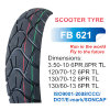 Horizontal Design Motorcycle Scooter Tyre Bias Tire 3.50-10