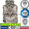 Leopard Fake Fur Hot Water Bottle Plush Cover