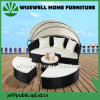 Outdoor Patio Sofa Furniture Round Retractable Canopy Daybed (WXH-007)