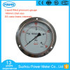 160mm Ss Case Liquid Oil Pressure Gauge with Panel Mount