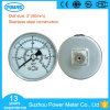 2′′ 50mm Full Stainless Steel Pressure Gauge Manometer Back Type