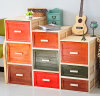 New Collection Wood Crate Storage Wood Drawer