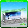 304 Stainless Steel Bus Shelter Frame with LCD Digital Display