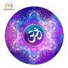 Watercolor Lotus Mandala Om Unique Design Round Meditation Yoga Mat