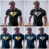 Men′s Muscle Casual Tops Supermen Printing T Shirts