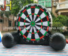 Customized H=3m PVC Inflatable Football Dart board Game for Sale