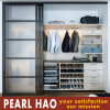 Modern PVC Sliding Door Wood Bedroom Wardrobe
