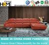 European Modern L Shape Sectional Leather Sofa with Headrest Adjustable (HC2023)