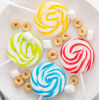 Rainbow Sweet Fruit Swirl Hard Lollipop Candy