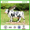 Hotsale New Cattle Stand Garden Resin Cow Statue (NF86178)