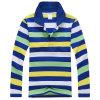 Cheap Design CVC Pique Stripes Polo T Shirt