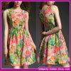 New Model Fashion Women Clothing Sexy Ladies Summer Sleeveless Ponished Print Dress (B-0034)