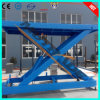Blue Color Shear Structure Vehicle Hydraulic Lifts