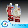 Shape Drink Packaging Plastic Bag with Spout
