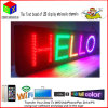 "LED Programmable Electronic P13 Full Color Outdoor Sign LED Display 15"" X 53"" Remote Control Open Running Message Board Display"