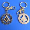Custom New Type Metal Enamel Charming Masonic Keyring (ASNY-KC-TM-039)