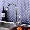 2015 New Design Brass Chrome Pull Down Kitchen Sink Faucet