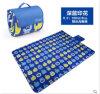 Competitive Price Blue Printed Microfiber Picnic Blanket