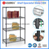 4 Tiers Heavy Duty Adjustable Metal Wire Book Rack